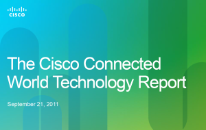 Detailled Report of Cisco Connected World Technology Study